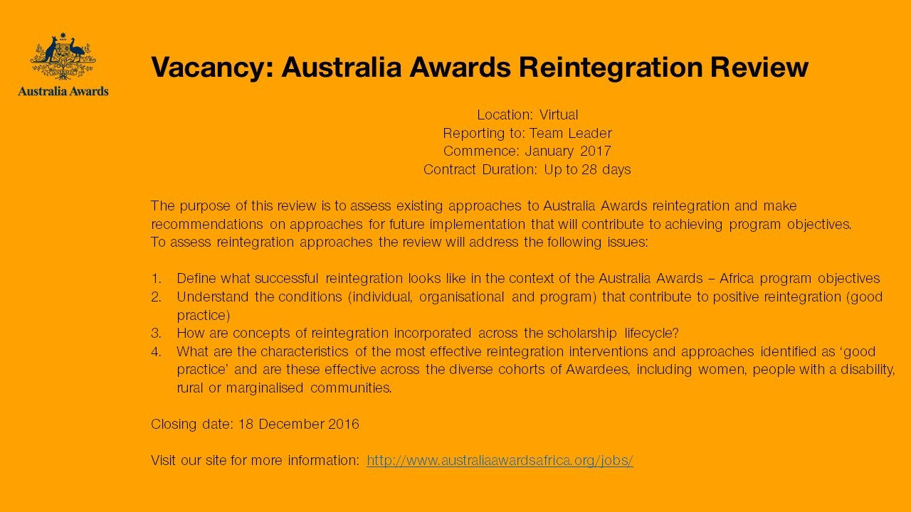 australia-awards-job-opportunity-nov-2016
